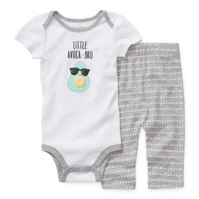 Okie Dokie Boys 2-pc. Bodysuit Set-Baby