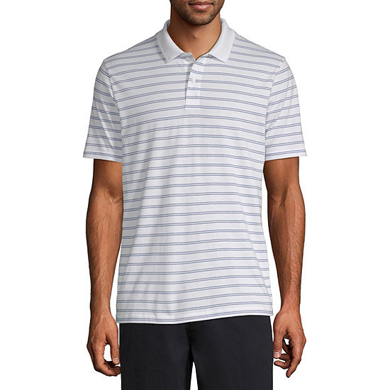 St. John's Bay Everyday Mens Short Sleeve Striped Polo Shirt