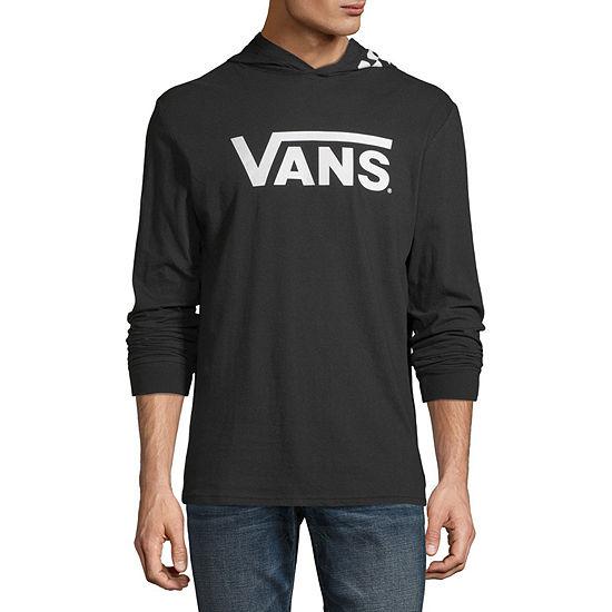 Vans Mens Hooded Neck Long Sleeve Graphic T-Shirt