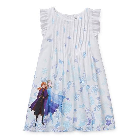 Disney Collection - Little Kid / Big Kid Girls Sleeveless Frozen Sundress