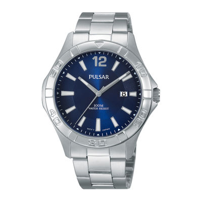 Pulsar® Mens Stainless Steel Watch PH9077X