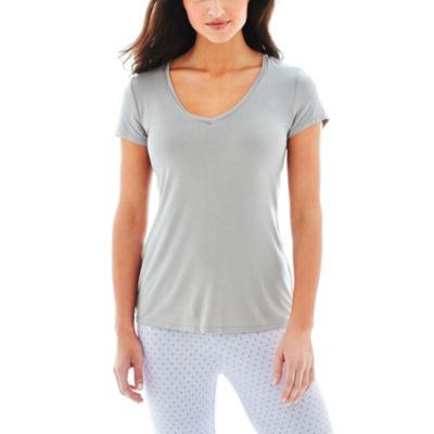 Ambrielle® Short-Sleeve Sleep Tee