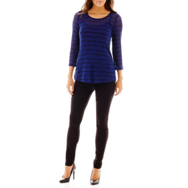 jcpenney.com | Alyx® Striped Top or Slim-Leg Knit Pants