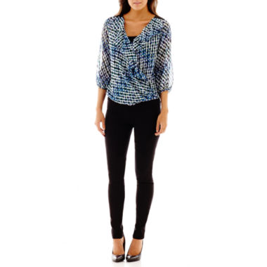 jcpenney.com | Alyx® Ruffled Top or Slim Pull-On Pants