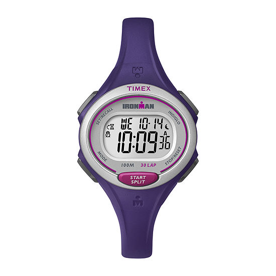 Timex® Womens Ironman 30 Lap Purple Silicone Strap Digital Watch