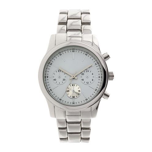Womens Teal Dial Silver-Tone Bracelet Watch
