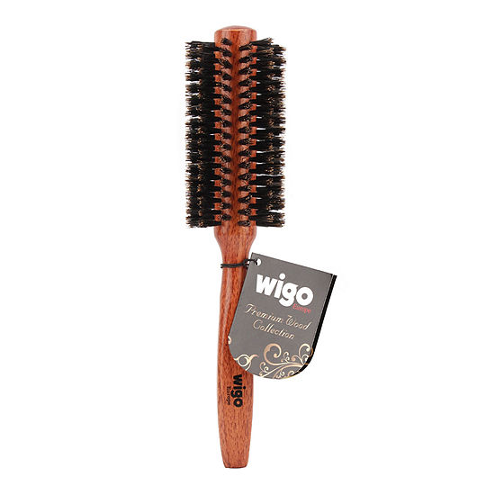 Wigo Wood Collection 100 Boar Medium Round Brush