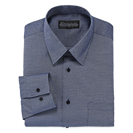 D'Amante Chambray Long Sleeve Dress Shirt