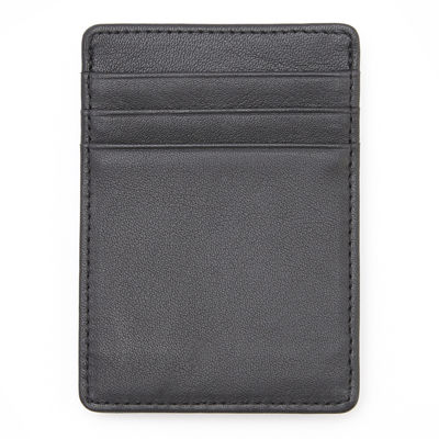 Royce® Nappa Leather Prima Money Clip Front Pocket Wallet