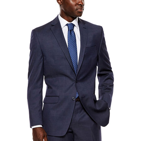 Collection by Michael Strahan Navy Tic Suit Jacket - Classic Fit, 44 Regular, Blue