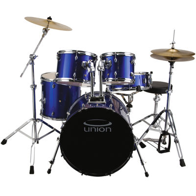 Union - U5 5-pc. Jazz/Rock/Blues Drum Set with Hardware, Cymbals and Throne