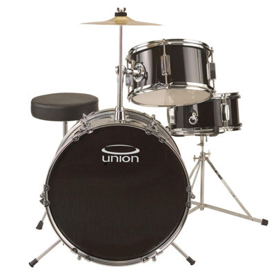 Union UJ3 3-pc. Junior Drum Set with Hardware, Cymbal and Throne