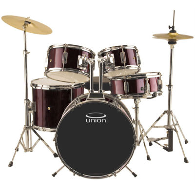 Union - UJ5 5-pc. Junior Drum Set with Hardware, Cymbals and Throne