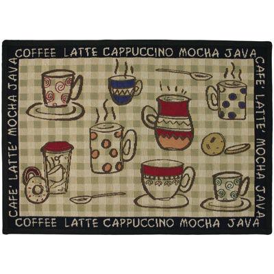 Rustic Café Rectangular Rug