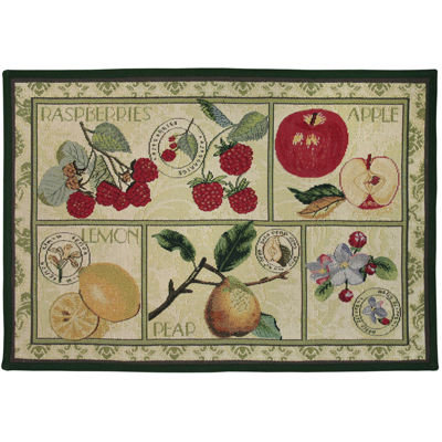 Fruit Postage Rectangular Rug