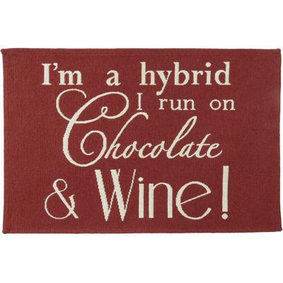 Chocolate & Wine Rectangular Rug
