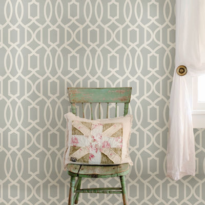 Grand Trellis Peel-and-Stick Wallpaper