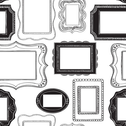 Photo Op Frames Peel-and-Stick Wallpaper