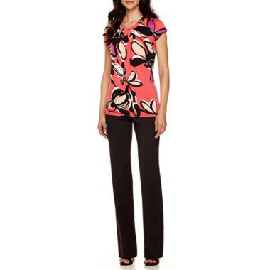 jcpenney.com | Worthington® Twist-Front Blouse or Straight-Leg Pants