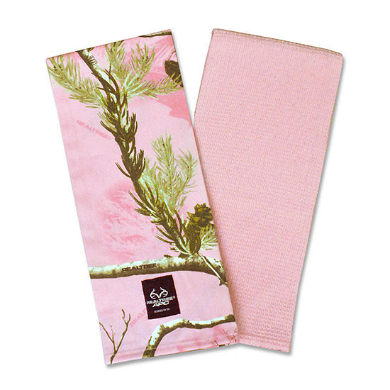 REALTREE AP Pink Kitchen Towel - Set of 2