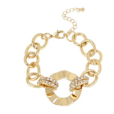 Worthington Gold Tone Brass 7.5 Inch Link Bracelet