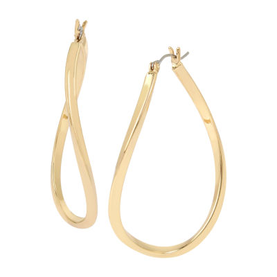 Worthington Brass 2 1/4 Inch Hoop Earrings