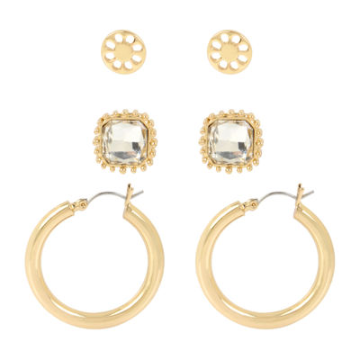 Worthington 3 Pair Earring Set