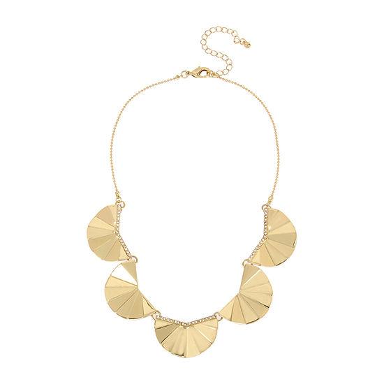 Worthington 15 Inch Bead Collar Necklace