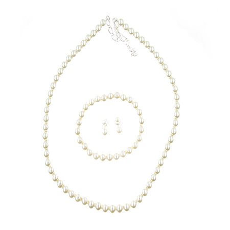 Vieste Rosa 3-pc. Simulated Pearl Jewelry Set, One Size , White