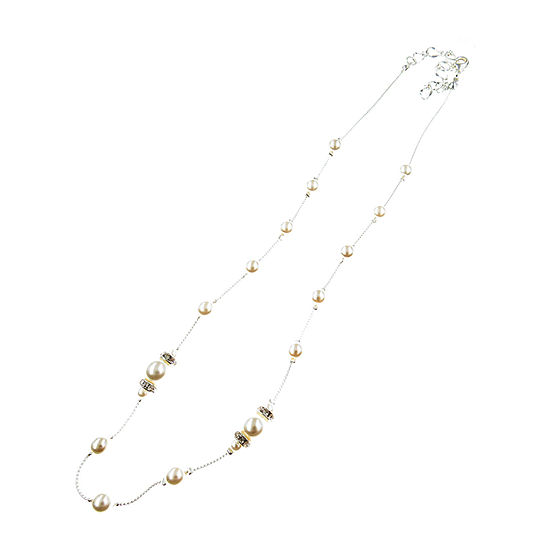 Vieste Rosa Simulated Pearl 18 Inch Illusion Necklace