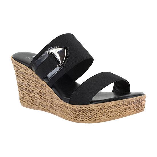 Easy Street Womens Marisole Wedge Sandals
