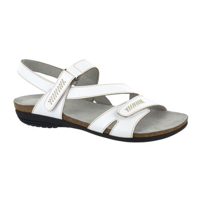 Easy Street Womens Winnie Adjustable Strap Flat Sandals