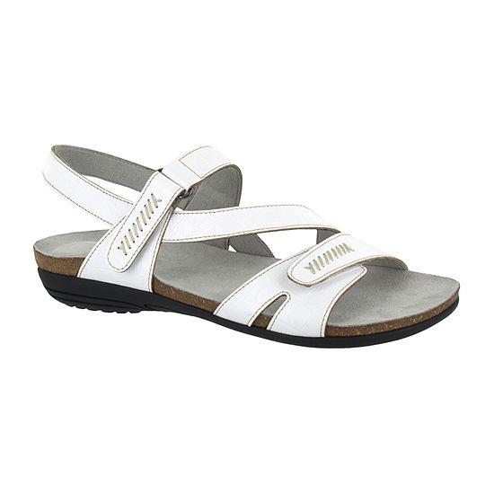 Easy Street Womens Winnie Adjustable Strap Flat Sandals