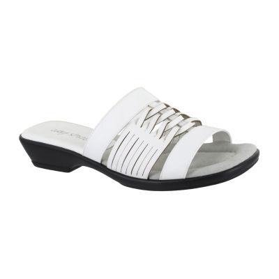 Easy Street Womens April Flat Sandals