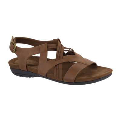 Easy Street Womens Jessica Adjustable Strap Flat Sandals