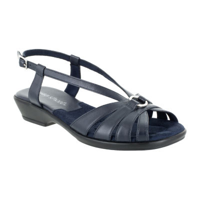 Easy Street Womens Amy Adjustable Strap Flat Sandals
