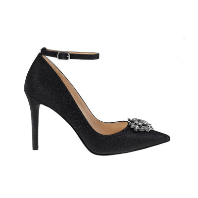 Mark And James By Badgley Mischka Womens Gala Pumps Buckle Pointed Toe Stiletto Heel