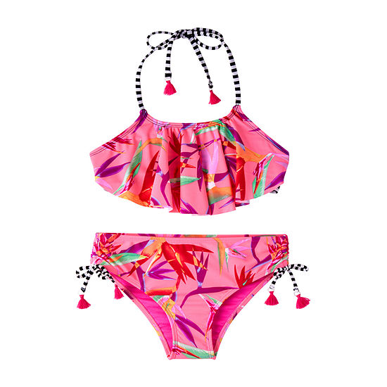 Limited Too Paridise Bird Bikini Set Girls