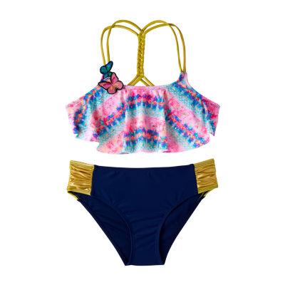 Limited Too Soft Tie Dye Bikini Set - Girls