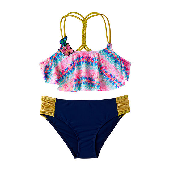 Limited Too Soft Tie Dye Bikini Set - Girls