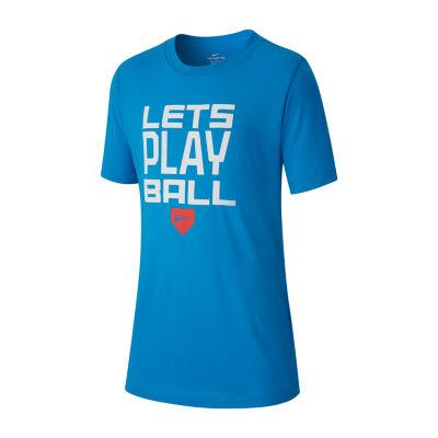 Nike Crew Neck Short Sleeve Dri-Fit Graphic T-Shirt - Big Kid Boys