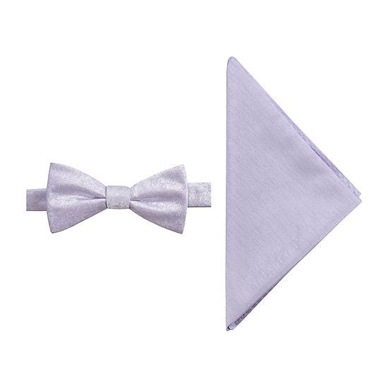 JF J.Ferrar Prom Floral Bow Tie Set