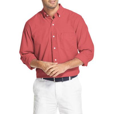 IZOD Newport Oxfords Mens Long Sleeve Button-Front Shirt