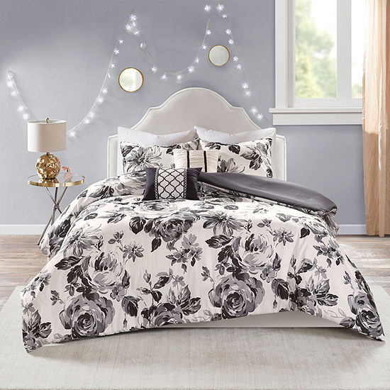 Intelligent Design Renee Floral Duvet Cover Set