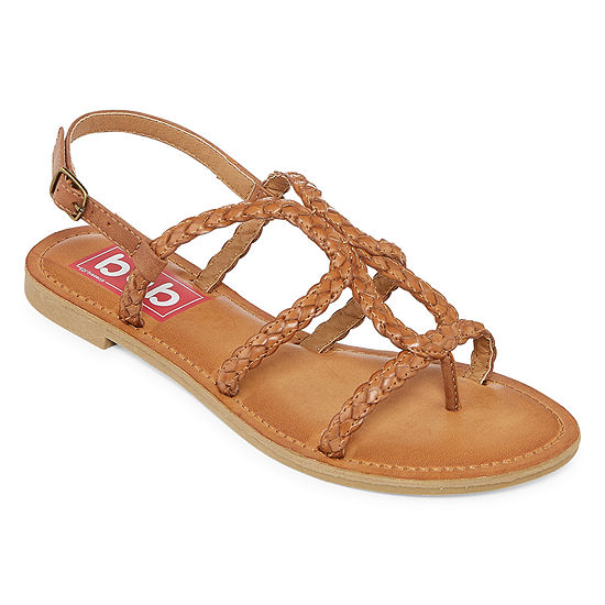 Pop Womens Splitz Adjustable Strap Flat Sandals