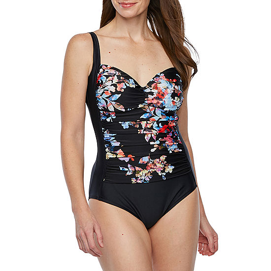 abc47f611505e Azul by Maxine of Hollywood Floral One Piece Swimsuit - JCPenney
