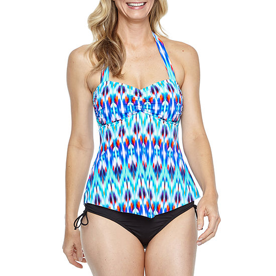 aa0a6c6872f8b Liz Claiborne Chevron Tankini Swimsuit Top or Swimsuit Bottom - JCPenney