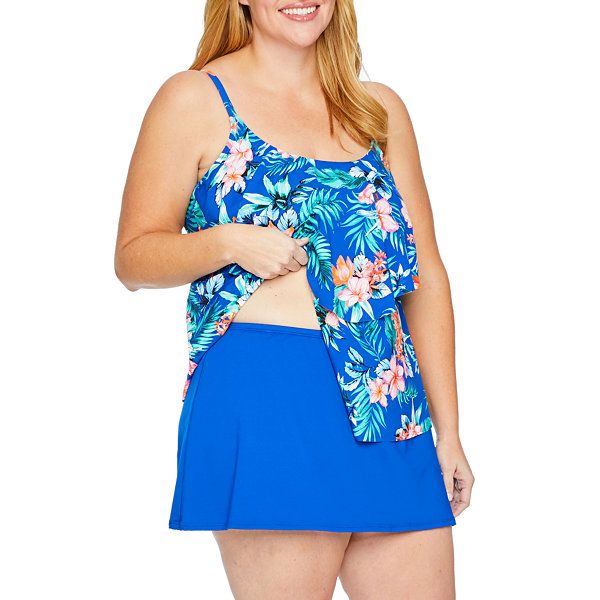 bd95bc25a9 Liz Claiborne Tankini Swimsuit Top or Swimsuit Bottom-Plus - JCPenney
