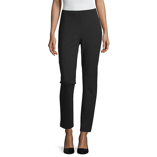 Liz Claiborne Womens Tapered Pull-On Pants