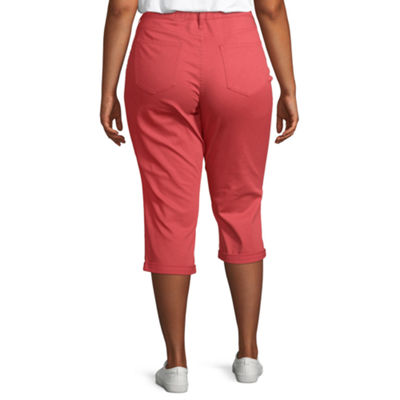 St. John's Bay Rolled Denim Capri - Plus